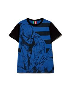 """Short sleeve """"Spiderman"""" t-shirt, Bright Blue - Check out the new collection at benetton.com."""