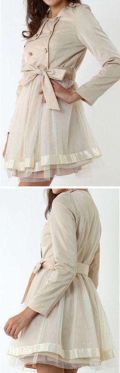 OMG I'm SO in L.O.V.E. with this Tulle Dress Coat ♥