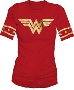 Wonder Woman Gold Foil Striped Sleeves Red Juniors T-shirt Tee (Juniors Medium) bioworld, http://www.amazon.com/dp/B005QR8OWI/ref=cm_sw_r_pi_dp_GD29pb1VEQQQ8