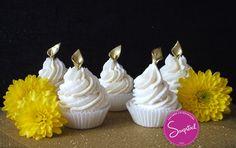 Cupcakes en Jabón artesanal aromatizados con Aceite Esencial de Lavanda.