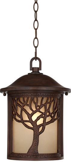 "This is one. Bronze Mission Style Tree 10"" High Outdoor Hanging Light -$200"