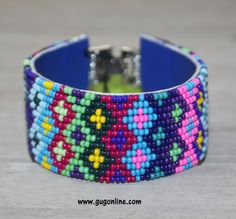 SALE Gypsy Soule Royal and Pink Colorful Tone Beaded Bracelet