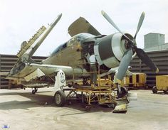 VNAF A-1E receives some TLC, Bien Hoa AB, Vietnam, 1967 . . .