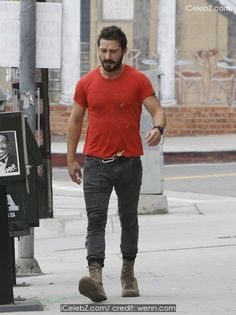 Shia LaBeouf Wearing his favourite old red 'Mighty Alpha Superstars 1981-1982' http://icelebz.com/events/shia_labeouf_wearing_his_favourite_old_red_mighty_alpha_superstars_1981-1982_/photo1.html