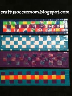 Crafty Soccer Mom: More Duct Tape Weave Bracelets