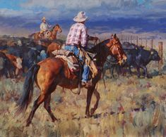 """Approaching the Gate"" by Jason Rich (Cowboy Artist)"