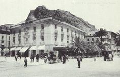 Alicante. Edificio del Hotel Simón en la época de Rafael Altamira.