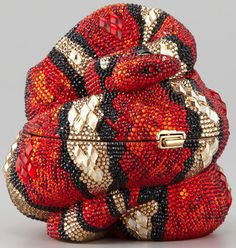 Judith Leiber clutch 2013-dedicated to the year of the snake. Priced at $ 4,000 it is adorned with hand applied crystals.