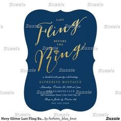 56 best bachelorette party invitation images on pinterest in 2018 navy glitter last fling bachelorette party invite stopboris Image collections