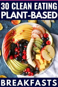 Plant Based Meal Plan In need of high protein vegan recipes for busy mornings? C… Plant Based Meal Plan In need of high protein vegan recipes for busy mornings? Check out these 30 healthy clean eating plant based recipes! Plant Based Diet Meals, Plant Based Meal Planning, Plant Based Whole Foods, Plant Based Eating, Plant Based Recipes, Plant Based Diet Plan, Whole Food Recipes, Diet Recipes, Vegetarian Recipes