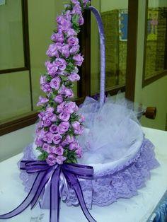 Easter Basket Ideas For Kids 14 Wedding Crafts, Wedding Decorations, Wedding Gift Wrapping, Wedding Gift Baskets, Marriage Decoration, Flower Girl Basket, Basket Decoration, Easter Baskets, Easter Crafts