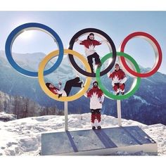 Sochi Olympic Rings with Team Canada members. I Am Canadian, Canadian History, Mark Mcmorris, Best Instagram Photos, Winter Olympics, Special Olympics, O Canada, Winter Games, Baseball Promposals