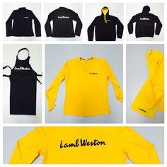 Bedrukte t-shirts, schorten, Hooded sweaters, sjaals en softshell jassen voor Lamb Weston