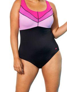 0de3b82501d Aquabelle Iris Women s Plus Size Colorblock Swimsuit  plussize Pink Swimsuit
