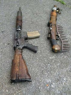 Tagged with fallout, guns, firearms, mad max, post apocalyptic; Weapons Guns, Guns And Ammo, Fallout Weapons, Zombie Apocalypse Weapons, Apocalypse Survival, Ps Wallpaper, Homemade Weapons, Custom Guns, Weapon Concept Art