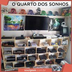 Com um quarto desses eu nem dormiria... não pera  #quartogamer #gamer #retrogamer #collection #top #soulgeekbr #nerd #geek