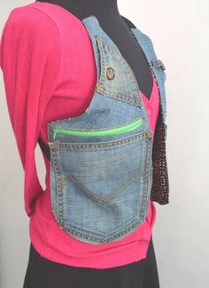 COM HACER UNA RIÑONERA CRUZADA EN LA ESPALDA Remake Clothes, Diy Clothes, Diy Wallet Pouch, Sewing Dolls, How To Make Handbags, Denim Bag, Frocks For Girls, Tote Pattern, Wristlets