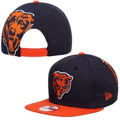 Men's Chicago Bears New Era Navy Blue/Orange Original Fit Jumbo Logo 9FIFTY Snapback Hat