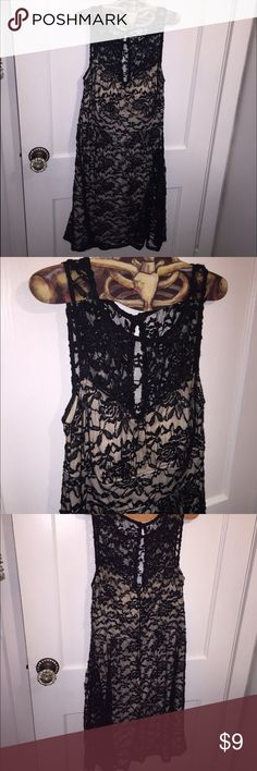 Dressbarn black lace dress Dressbarn black lace dress size 10, worn once there are some snags throughout from getting caught on my jewelry. Otherwise great condition, very comfortable Dress Barn Dresses