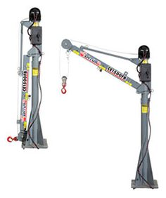 Venturo Mast Cranes Four function electric crane featuring a heavy duty planetary electric winch & small footprint, 6000 ft/lbs, 2000 lb lift cap. For more information regarding the Venturo line cranes please call our sales team at - Lifting Devices, Crane Lift, Atv Trailers, Electric Winch, Crate Engines, Small Trucks, Trailer Build, Construction Tools, Homemade Tools