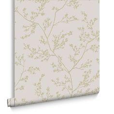 Springtime Beige and Gold Wallpaper