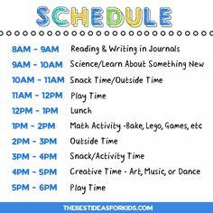 Kindergarten Homeschool Schedule - The Best Ideas for Kids