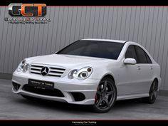 Mercedes C Klasse W203 Komplettvers Spoiler Set Body Kit Tuning Umbau neu Verbau