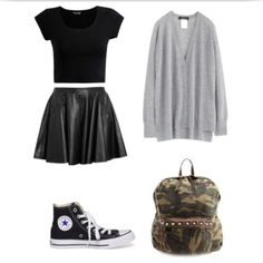 Edgy Outfits for School   back to school edgy fashion grunge