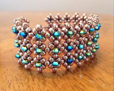 You can request any color crystals and a choice of gold, champagne, bronze or silver for the base of my stunning and versatile beaded cuff!! Gold & Turquoise crystal cuff bracelet, Swarovski bracelet, turquoise beaded cuff bracelet, bridal cuff, beadwoven cuff, wedding jewelry EBW