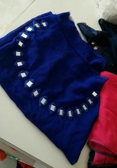 We are manufacturers of designer outfits Online orders🤳🤳 Sizes available S to No cod only bank transfer✅ Shipping worldwide✈ Dispatch time weeks📦 For booking WhatsApp or call at 8968922443 ⬅⬅ Fancy Blouse Designs, Dress Neck Designs, Saree Blouse Designs, Churidar Neck Designs, Salwar Designs, Indian Designer Suits, Designer Wear, Mirror Work Blouse Design, Kurti Embroidery Design