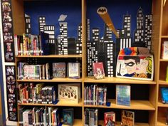 Graphic Novel Display I moved my graphic novels to their own area in the library and made this cool display to show them off!