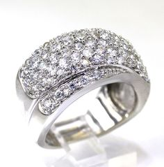 Cubic Zirconia Layered Criss-Cross Anniversary Ring in Sterling Silver size 7.25