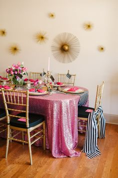 A Chic and Swanky Kate Spade Inspired Dinner Party