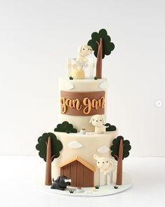Baby Boy Birthday Cake, Bithday Cake, Baby Girl Cakes, Cute Birthday Cakes, Cake Designs For Kids, Farm Cake, Just Cakes, Colorful Cakes, Novelty Cakes