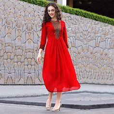 Red Party Wear Designer Kurti