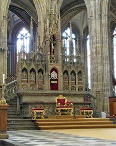Interior of St Vitus's cathedral, Prague
