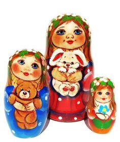 Winnie the Pooh Matryoshka Matreshka Babooshka Russian Nesting Dolls 7 Pcs