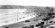 Bondi Beach in Vintage Pictures, Old Pictures, Old Photos, Bronte Beach, Sydney Beaches, Sydney City, Sense Of Place, History Facts, Beach Club