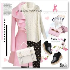 How To Wear I wear pink ribbons as a symbol for breast cancer awareness Outfit Idea 2017 - Fashion Trends Ready To Wear For Plus Size, Curvy Women Over 20, 30, 40, 50