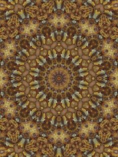 Gilded mandala from Janusian Gallery