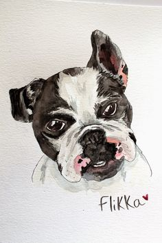 punk projects: Adventures in Watercolor Portraits Bulldob