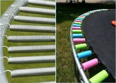 #DIY: Cover trampoline springs with #pool noodles to protect kids' feet and hands. #Safe #Stylish pic.twitter.com/bFxm5q354G