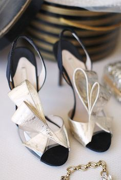 black and champagne bridal shoes brides of adelaide magazine