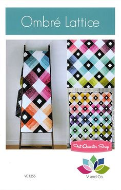 Ombre Lattice Quilt Pattern<BR>V and Co.