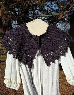 PDF Crochet PATTERN for Afternoon Tea Capelet by Shelleden on Etsy #cape #capelet #shawlette #crochet #crocheted #shoulder wrap