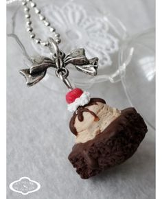 "Collier ""Brownie"" - Bijoux fantaisie gourmands"