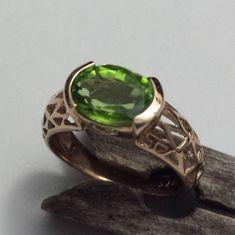 This Ladies Designer 9 Carat Yellow Gold Handmade Ring Features a Peridot Peridot, Rings For Men, Yellow, Lady, Gold, Handmade, Jewellery, Awesome, Design