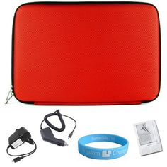 Red Hard Cube Nylon Carrying Case for Amazon Kindle 2 which INCLUDES Wristband, Screen Guard, Car Charger, and Wall Charger by Bestpriceshop. $19.95. Carry and protect your kindle 2 with this Hard CUBE Laptop Case designed for Amazon Kindle2. This Stylish scratch and water resistant case lets you carry your kindle wherever you go. Padding protects your kindle from bumps, scratches, spills and every day wear and tear. Dual zipper opening allows quick access to its co...
