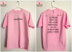 BTS Name List Shirt from Pastelito