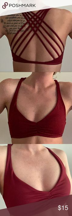 Womens Petite No Weakness V403 Cross Back Fitted Sports Bra